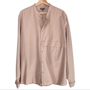 COS Button Down Powder Pink Shacket
